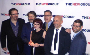 Bart, Nick Offerman, Megan Mullaly and the boys of The New Group do the step-'n'-repeat at KTCHN (Photo: Bill Raden)