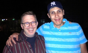 Magnum Opus Theatre producer Brandon Clark & member Jaime Robledo (Photo by Bill Raden)