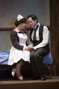 "Daisy Eagan and French Stewart in Pasadena Playhouse's production of ""Stoneface."" (Photo by Jim Cox)"