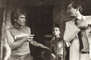 "Paul Lieber, Joe Pantoliano & Lane Smith in the Matrix Theatre Company's 1983 production of Lyle Kessler's ""Orphans"" (Photo: Courtesy Matrix Theatre Company)"