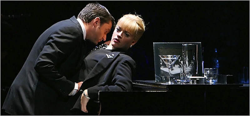 Raul Exparza's Robert, with Elizabeth Stanley, in the 2006 Broadway Revival of Company