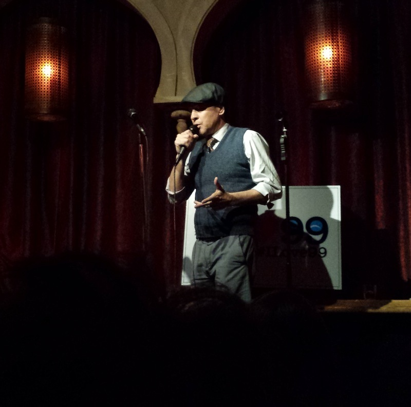 French Stewart Croons at a fundraiser for the pro-99-seat-theater movement at Akbar (Photo by Paul Birchall)
