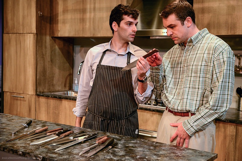 Donal Thoms-Capello and Chirs L. McKenna in TASTE at Sacred Fools Theater Company. (Photo by Jessica Sherman.)