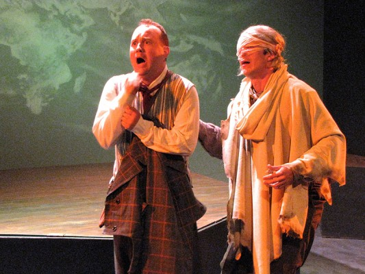 Scott Golden, left, and Paul Turbiak in Candide (photo courtesy of Sacred Fools)