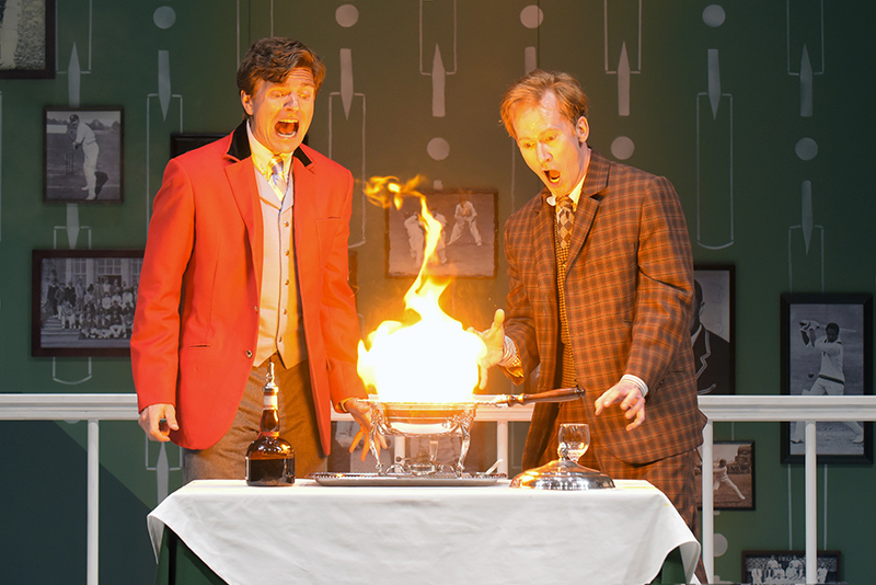 William Connell, left, and Dan Donohue in ​One Man, Two Guvnors (photo courtesy of mellopix.com)