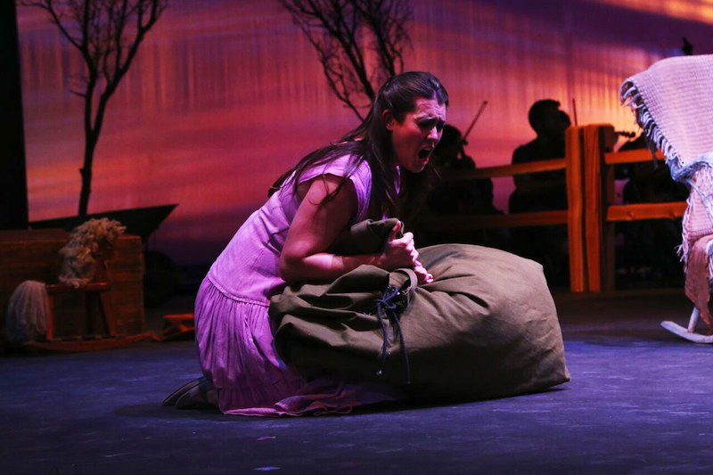Soprano Chelsea Basler in Susannah (photo by Brian Biery).