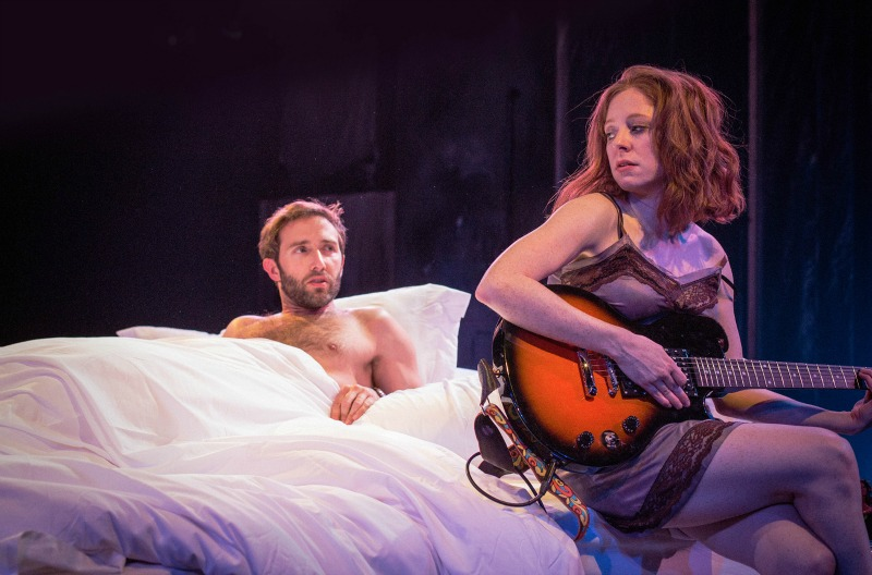 """TW Leshner and Kate Morgan Chadwick in Sheila Callaghan's steamy feminist one-act, """"The Bed"""" (photo by Darrett Sanders)"""