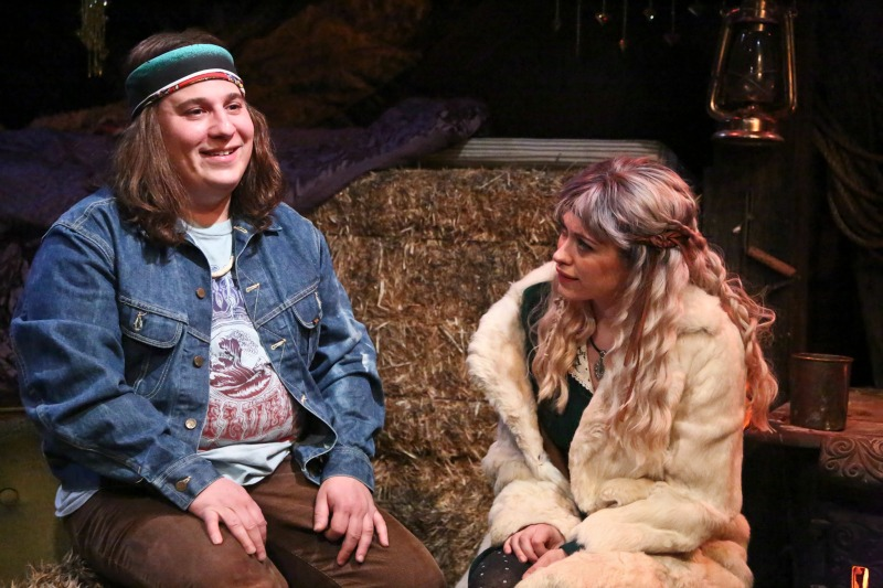 """Jared Gertner and Talisa Friedman in """"THE DODGERS"""" by Diana Amsterdam, directed by Dave Solomon (Photo by Michael Lamont)"""