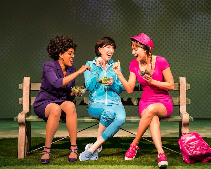 "Dinora Z. Walcott, Lisa Banes and Nora Kirkpatrick in ""Women Laughing Alone With Salad"" (photo by Craig Schwartz)"