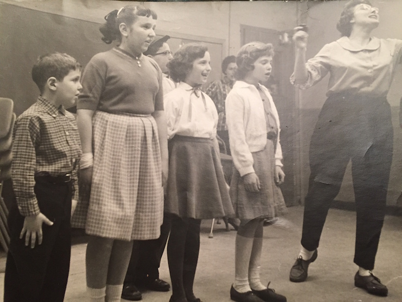 Gary Grossman's first stage role: the child, left. Photo: Courtesy Gary Grossman