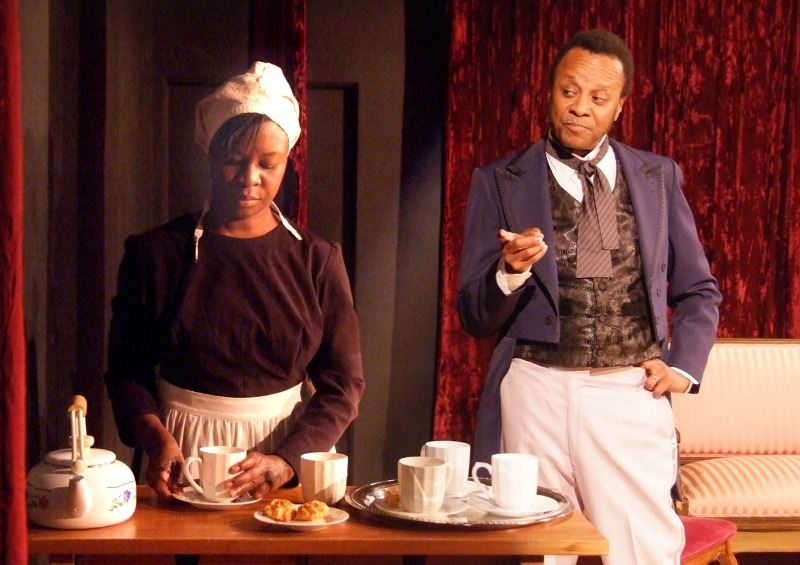 """Dee Dee Stephens and Paul Outlaw in """"Red Velvet"""" at the Atwater Playhouse (photo by Ed Krieger)"""