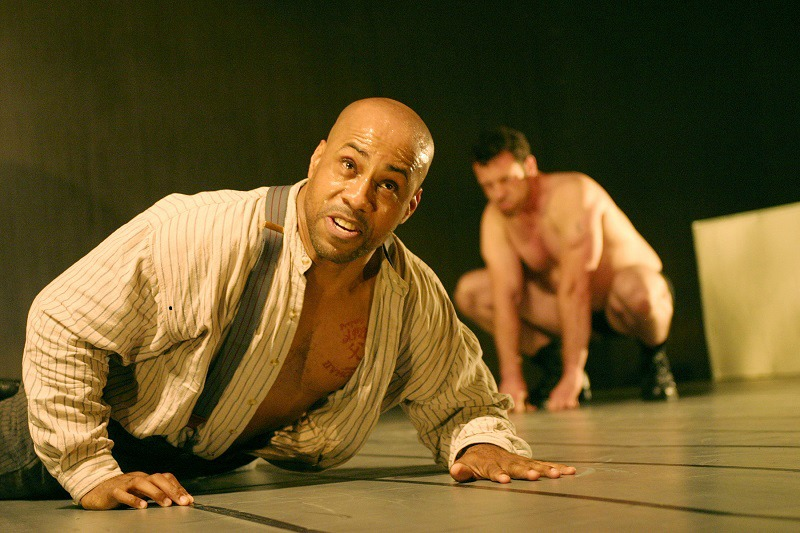 Hailé D'Alan and Jeremiah O'Brian in The Hairy Ape at the Odyssey Theatre Ensemble (photo by Enci Box)