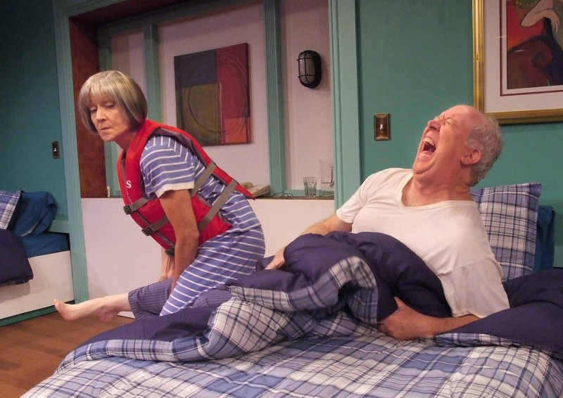 Mona Lee Wylde and Daniel Leslie in M.J. Cruise's Separate Beds at Theatre 40 (photo by Ed Krieger)