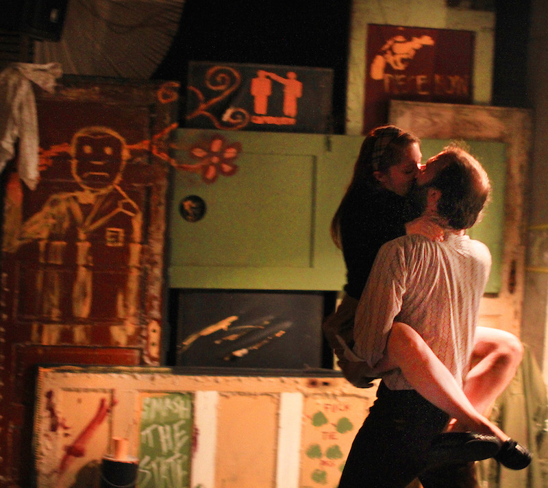 Emily Louise Perkins and  Ben Beckley in HOME/SICK (Photo by Nick Benacerraf)