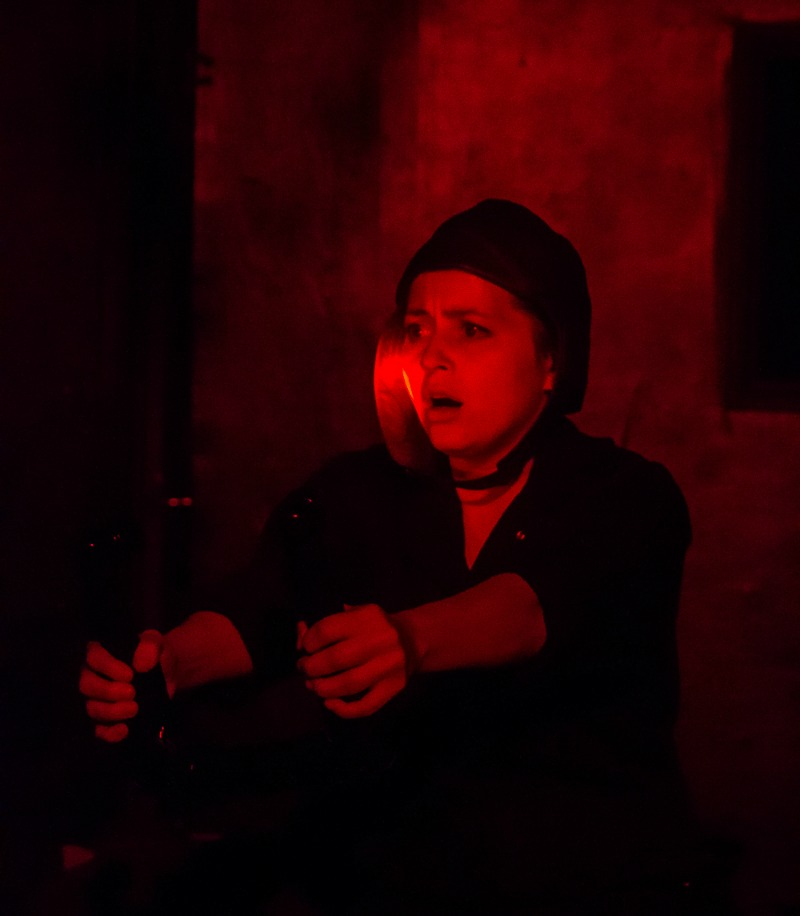 Heather Schmidt  in Will McMichael's Night Witches at Asylum (photo by Mandi Moss)