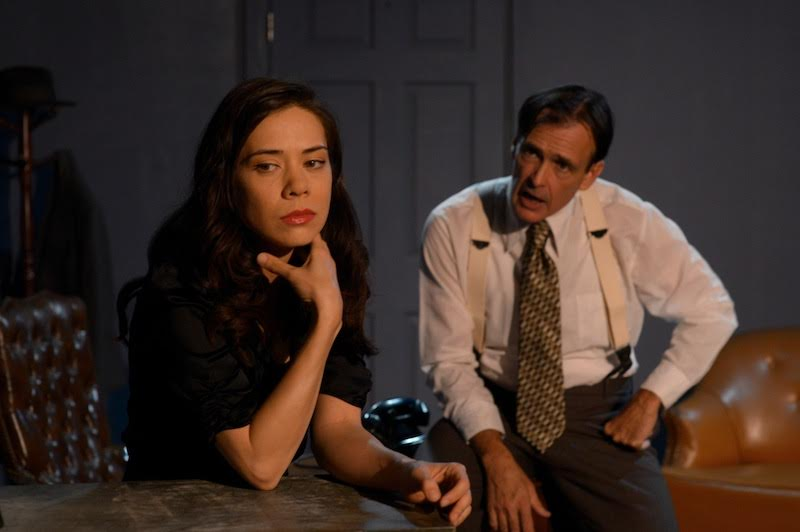 Denise O'Callaghan and Jon Boatwright in Golden Boy at Stella Adler Theatre (photo by Julio J. Vargas)