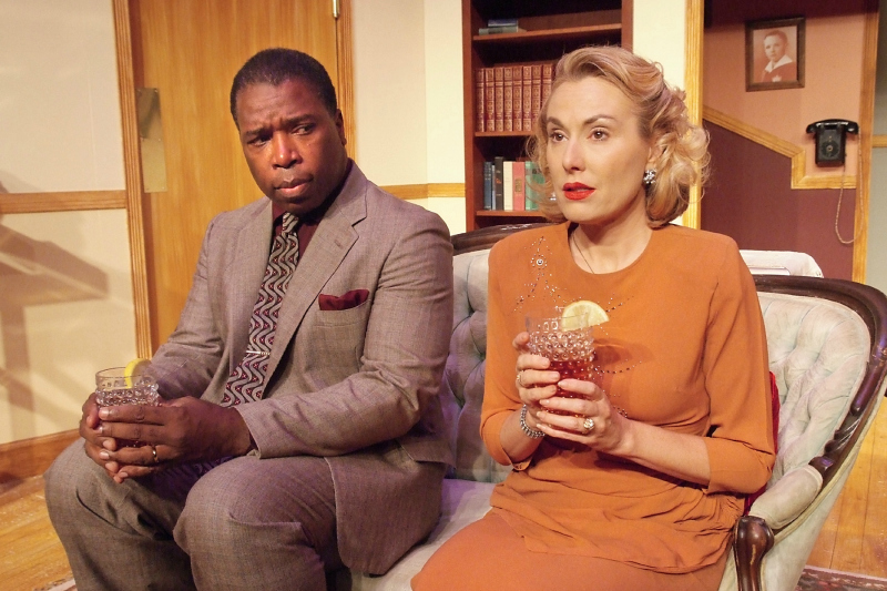 Regi Davis and Meredith Thomas in Blueprint for Paradise at the Hudson Mainstage Theatre (photo by Ed Krieger)
