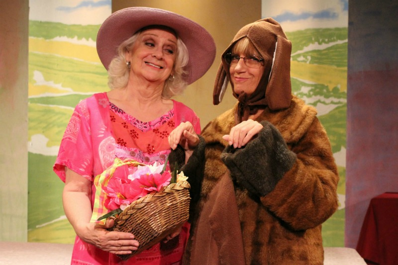 Cheryl Crosland and Julie Davis in Calendar Girls at the Lonny Chapman Theatre (photo by Drina Durazo)