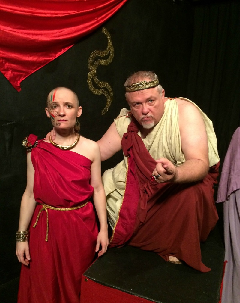 Jonica Patella and Dale Sandlin in Medea  (photo by Denise Devin)
