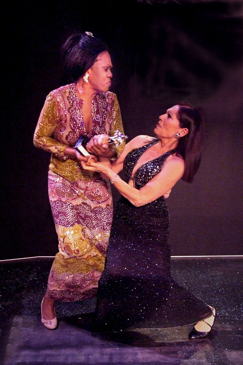 Dee Freeman and Christopher Callen in Drama Queens from Hell at the Odyssey Theatre (photo by Ed Krieger)