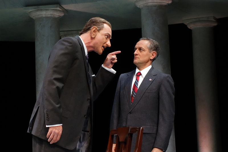 Hugo Armstrong and JD Cullum in All the Way at South Coast Repertory (photo by Debora Robinson)