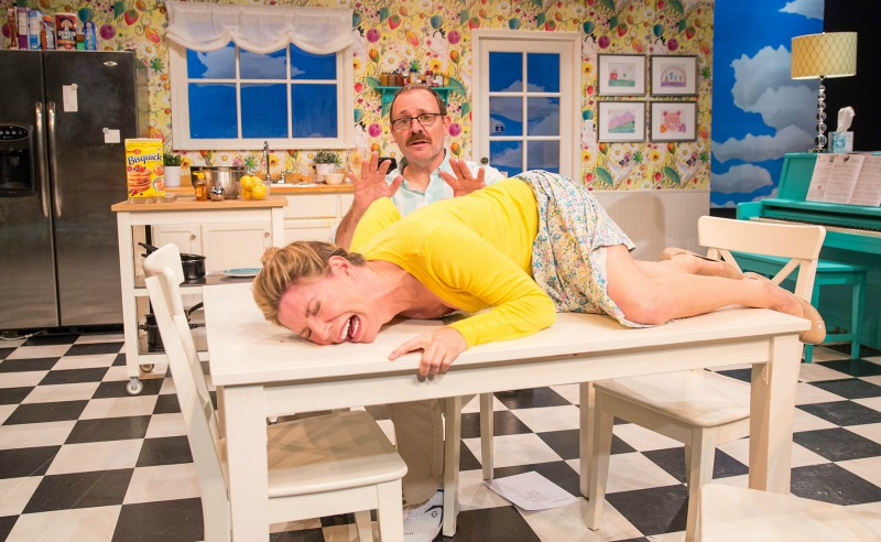 Jacqueline Wright and Albert Dayan in Blueberry Toast — The Echo Theatre Company at Atwater Village Theatre (Photo by Darrett Sanders)
