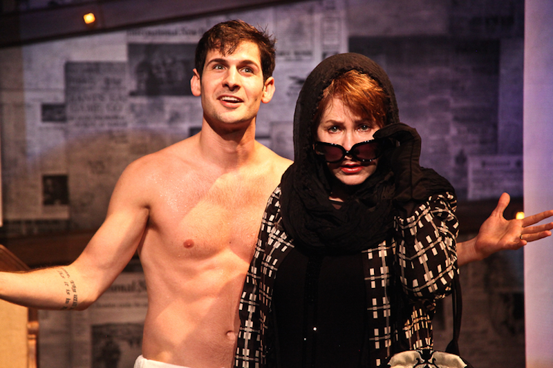 Phil Orzio and Taylor Gilbert in Albee's THE PLAY ABOUT THE BABY, currently playing at The Road Theatre through November 5, 2016