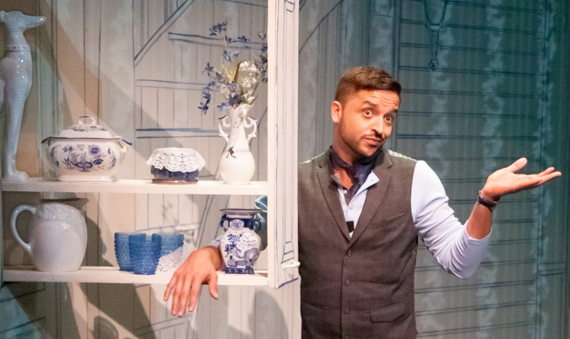 Jai Rodriguez  in Buyer and Cellar at the Falcon Theatre (Photo by Sasha A. Venola)