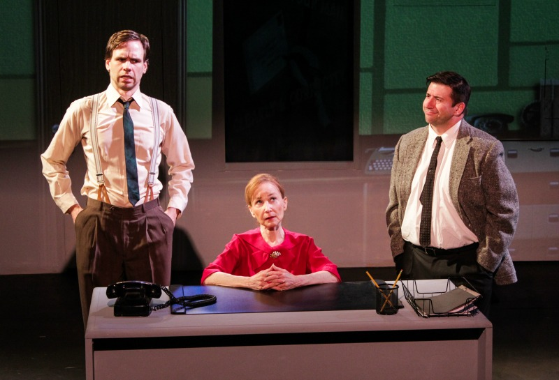 Rob Smith, Carryl Lynn and Matt Taylor in The Next Arena's Vonnegut USA (photo by Maia Peters)