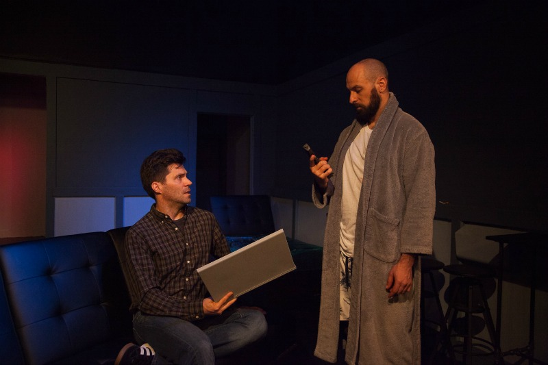 Brice Williams and Adam Mervis in The Portman Delusions at The Raven Playhouse (Photo by Stephen Borasch)