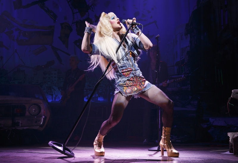 Darren Criss in Hedwig and the Angry Inch  at the Hollywood Pantages Theatre (Photo  by Joan Marcus)
