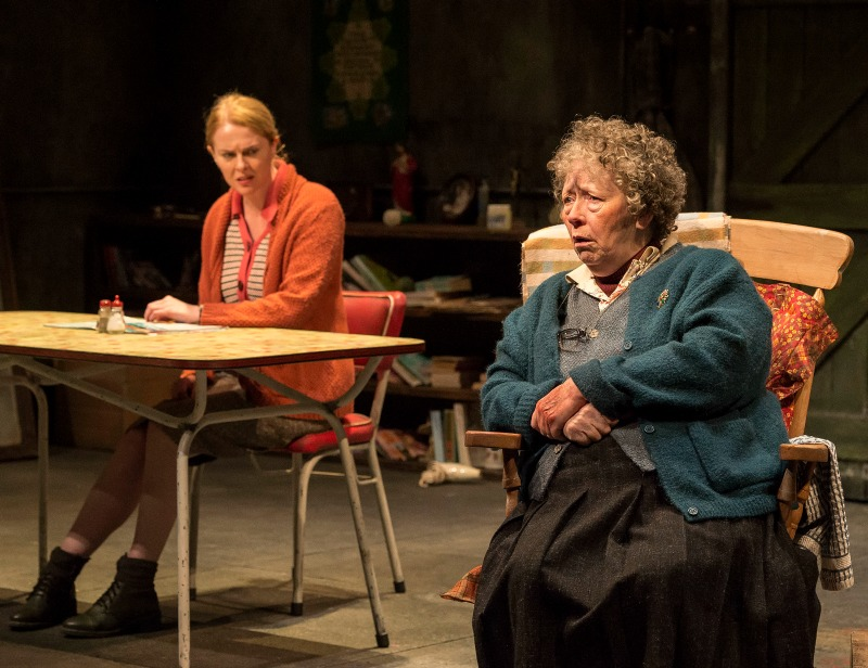 Aisling O'Sullivan and Marie Mullen in The Beauty Queen of Leenane at the  Mark Taper Forum (Photo by Craig Schwartz)