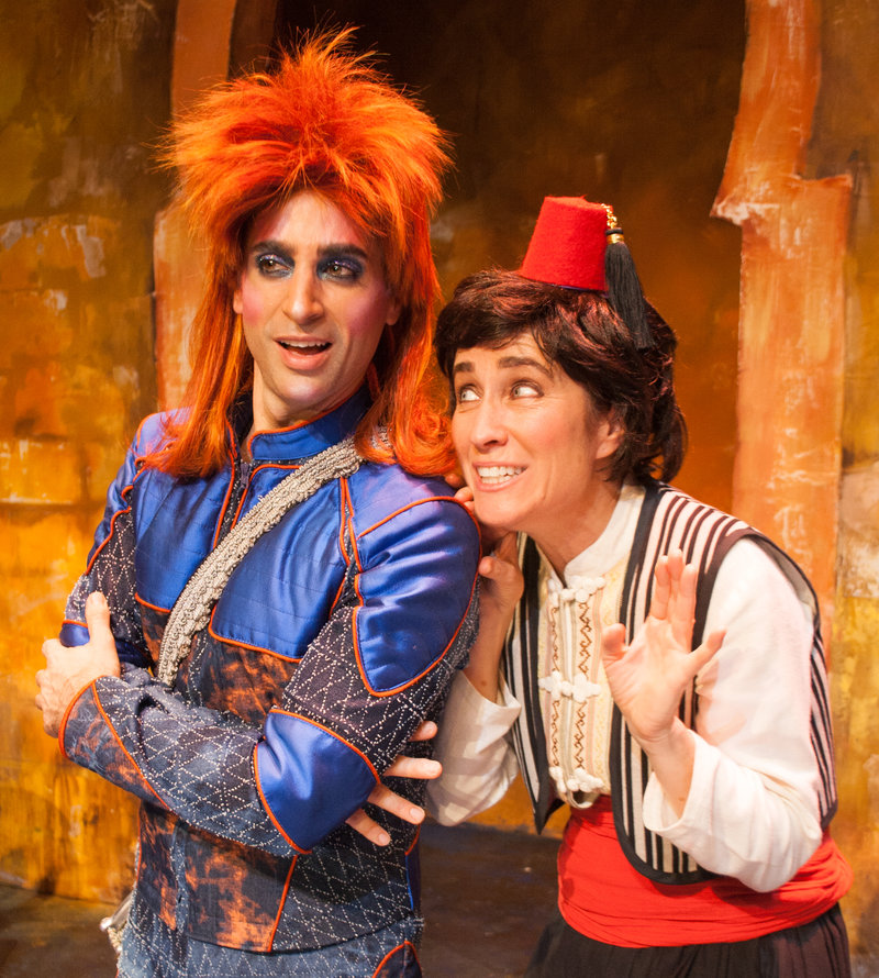 Joseph Leo Bwarie and Beth Kennedy in the Troubadour Theatre Company's production of Little Drummer Bowie at the Falcon Theatre (Photo - Sherry Greczmiel)