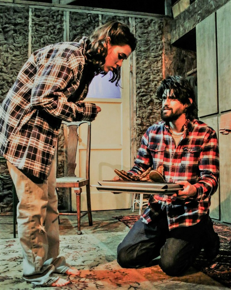 Roxanna Kaye and Juan Lozano in Brilliant traces at the Underground Theatre.  (Photo by Daniel J. Sliwa)
