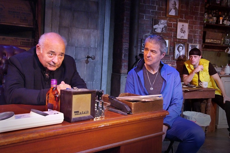 Burt Young, Gareth Williams and Ben Adams in The Last Vig at the Zephyr Theatre (Photo by ed Krieger)