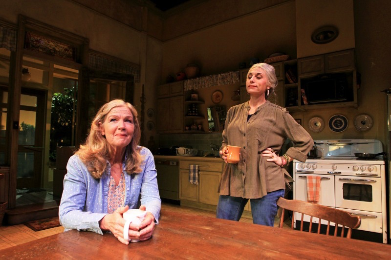 Linda Gehringer and Tessa Auberjonois in The Roommate at South Coast Repertory (Photo by Debora Robinson)