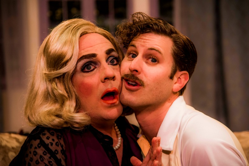 Drew Droege and Andrew Carter in  Die, Mommie, Die! at the Celebration Theatre. (Photo by Matthew Brian Denman)