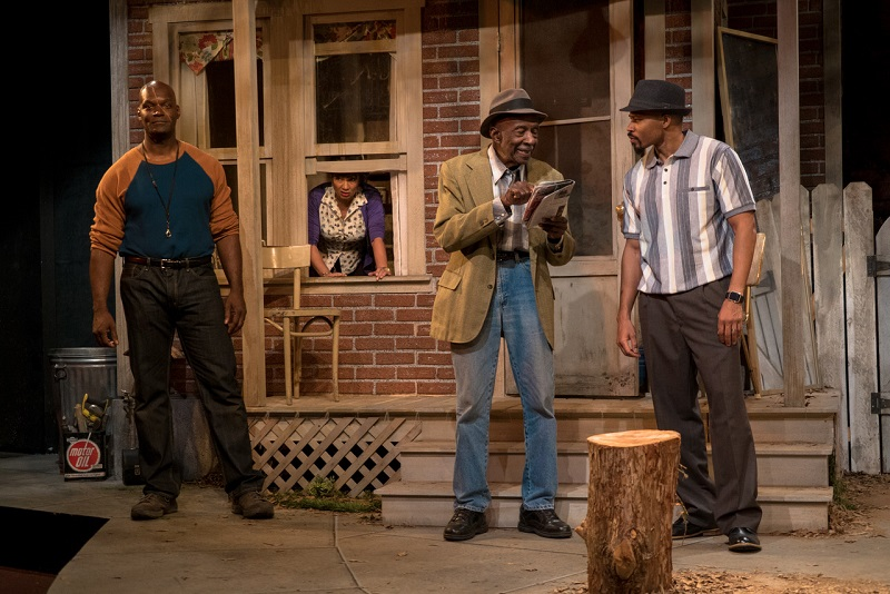 Esau Pritchett, Ella Joyce, Adolphus Ward and John Chaffin in August Wilson's King Hedley II at the Matrix Theatre. (Photo by Oliver Brokelberg)