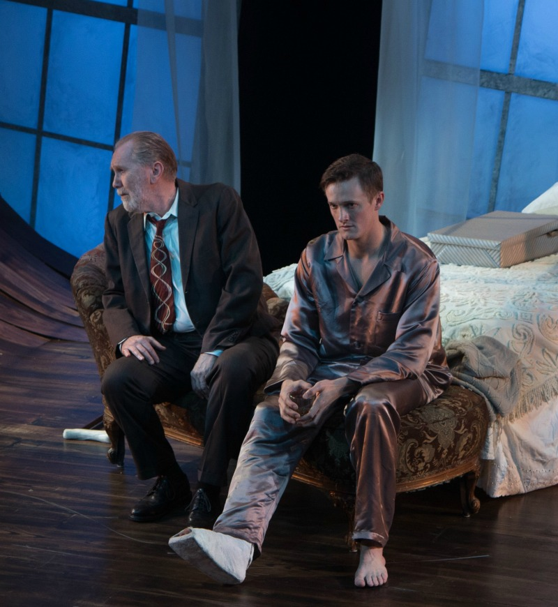 Harry Groener and Ross Philips in Cat on a Hot Tin Roof at Antaeus Theatre Company (Photo by Steven C. Kemp)