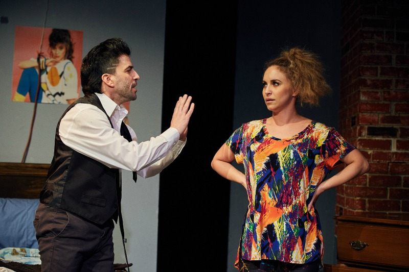 Danny Cistone and Alexis Brandt in Lusting for Pipino's Wife at Theatre 68 (Photo by Doren Sorrell)