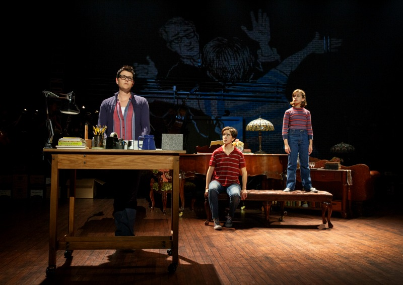 Kate Shindle, Abby Corrigan  and Alessandra Baldacchino in  Fun Home at the Ahmanson Theatre (Photo by Joan Marcus)
