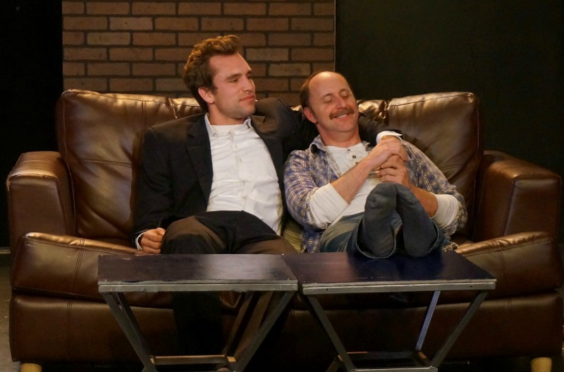 Peter Schiavelli and Parker Mills in  The Normal Heart at Chromolume Theatre. (Photo courtesy Chromolume Theatre)
