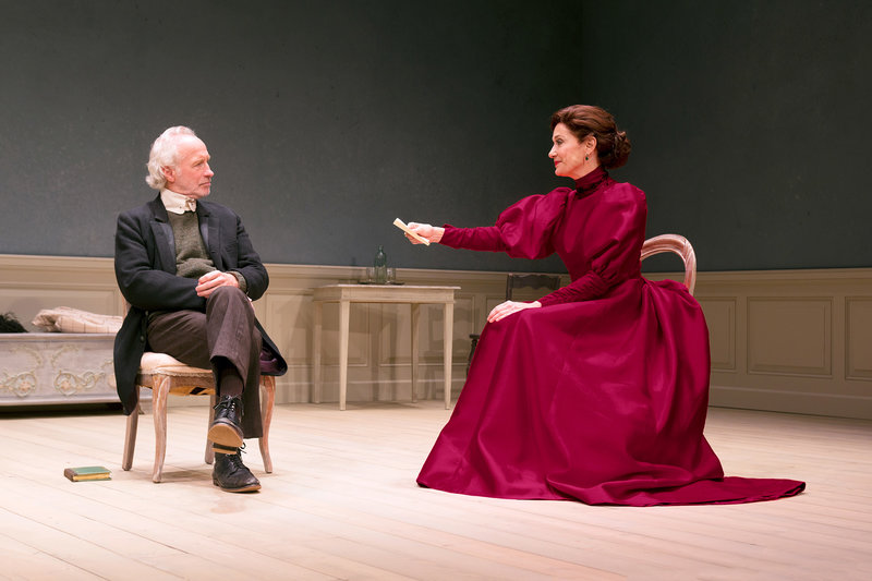 Bill Geisslinger and Shannon Cochran in A Doll's House, Part 2 at South Coast Repertory (Photo by Debora Robinson)