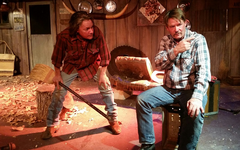 Christopher Jordan and Christopher Parker in Lone Star at the Zephyr Theatre. (Photo by Elephant Stageworks)
