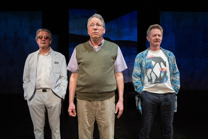 Norbert Weisser, Carl J. Johnson and Darrell Larson in The Gary Plays, Part 3, Charles Story, The Open Fist Theatre Company at the Atwater Village Theatre  (Photo by Darrett Sanders)