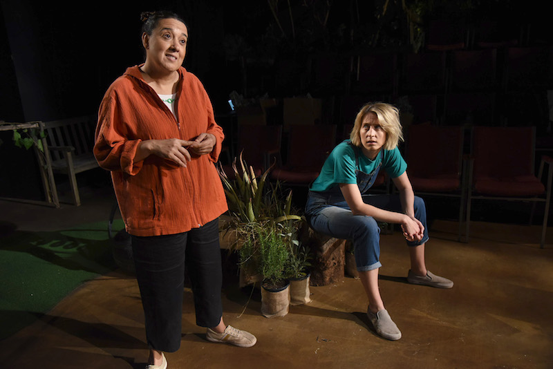 Eileen Galindo and Melissa Stephens in  Species Native to California  by Dorothy Fortenberry at Atwater Village Theatre (Photo by Dean Cechvala)