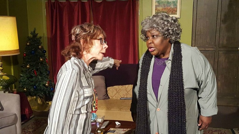 Mindy Sterling and Ellia English in Yes, Virginia at Studio C (Photo by Matthew Quinn)