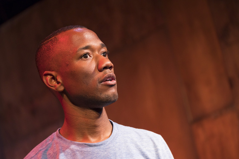 Giovanni Adams in his solo show  Love Is a Dirty Word  at VS Theatre (photo by Aaron Epstein)