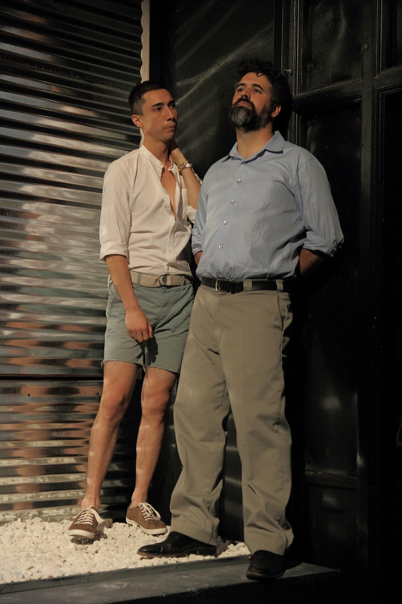Chris Aguila and Cyrus Wilcox in Nicky, Coerage Theatre Company at Greenway Court Theatre (Photo by  John Klepping)