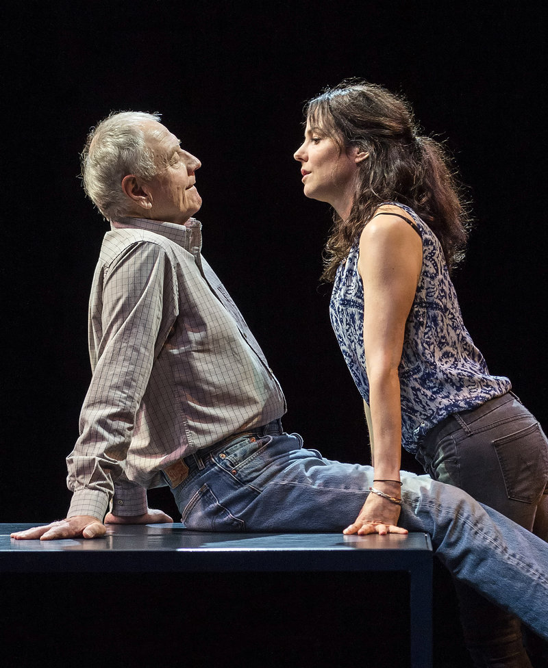 Denis Arndt and Mary-Louise Parker in Heisenberg, at the Mark Taper Forum. (Photo by Craig Schwartz)